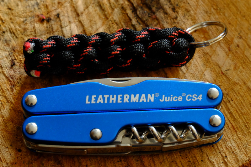 Firecord Zipper pull + Leatherman Juice CS4 for scale.