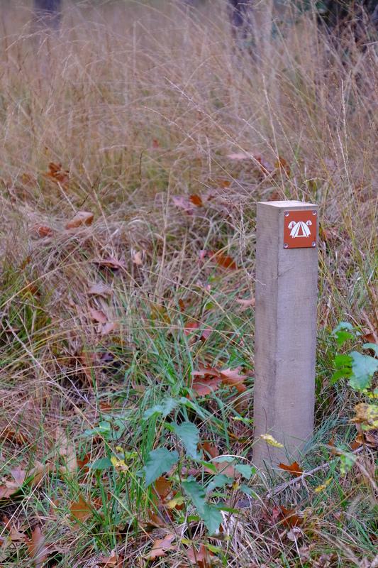 Small camping post sign.
