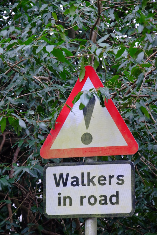 Walkers in Road sign.