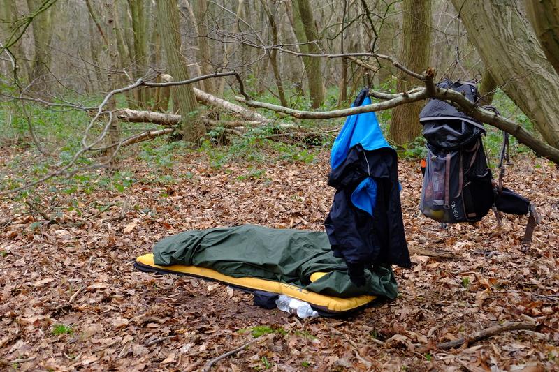 Bivvi bag under a tree.
