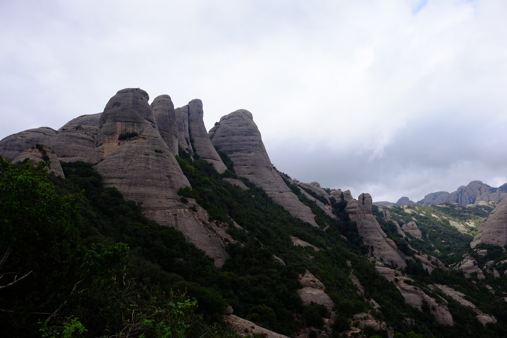 Rugged mountains of Montserrat